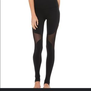 Alo Yoga Black Midrise Coast Legging Sheer/Stirrup